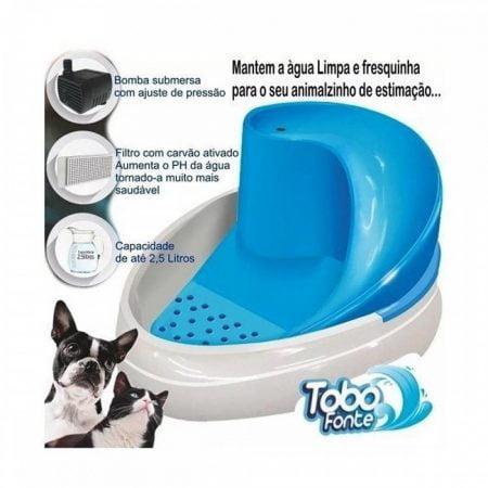 Bebedouro Tobo Fonte Automático Cães Gatos Bivolt