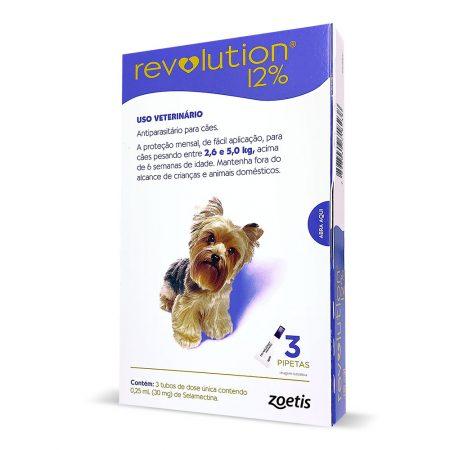 Combo Revolution 30mg Cães 2,5 a 5kg 3 Pipetas