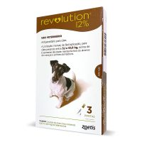 Combo Revolution 60 mg para Cães de 5 a 10 kg 3 Pipetas