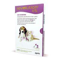 Combo Revolution 15mg Cães e Gatos 2,5kg 3 Pipetas
